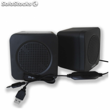 Mini altavoces usb approx appspae - 5w - 40hz-20khz - control