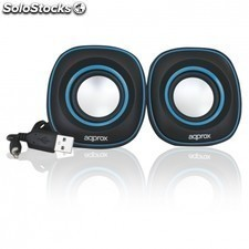 Mini altavoces USB APPROX appspx2bl - 6w - 90hz-20khz - salida audio mini jack