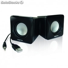 Mini altavoces usb approx appspxlite - 6W - 90Hz-20KHz - salida audio mini jack