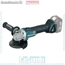 Mini-amoladora a bateria 18v litio-ion 115 mm bl solo maquina - MAKITA