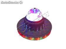 Mini bola disco led rgb giratoria no0112