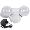 Mini bolas discoteca dobles giratorias, marca Party Fun Lights