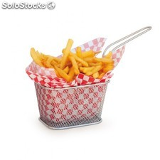 Mini friteuse 2 portion 13x11x8 cm argente inox
