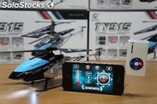 Mini helicoptero iPhone Samsung Android radio control infra red rc 3.5 canales