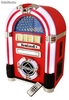 Mini Jukebox Rockola vinilo rojo