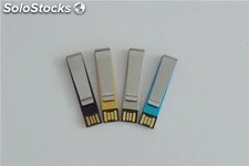 Mini memoria USB clip marcador con impresión logotipo usb flash drive por mayor