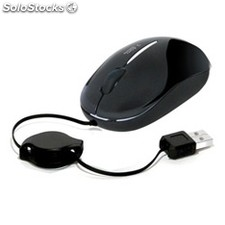 Mini mouse raton phoenix optico tacto suave con cable RETR�ctil usb 800DPI