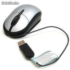 Mini Mouse USB Optico Labtec Gris c/Negro