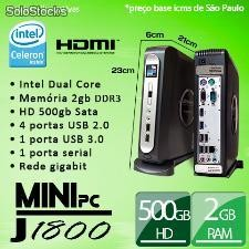 Mini pc Blue 1800 Intel Dual Core 2gb ddr3 hd500gb Suporte vesa hdmi