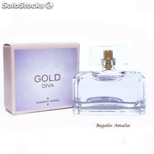 Mini perfume Gold Diva by Roberto Verino. Stock limitado