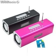 Mini Sound Box Mobile Speaker 6w Rms Microsd Pendrive Mp3 FM