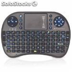Mini teclado inalambrico wireless retroiluminado phoenix touchpad multimedia