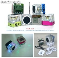 mini usb sd altavoz multimedia pc speaker cmk028
