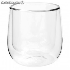 Mini vaso doble capa - 30 ml transparente cristal borosilicato