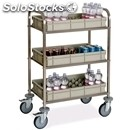Minibar refill trolley - mod. minibar 2050 - square tubular stainless steel