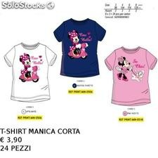 Minnie disney t-shirt cotone assortita in 3 modelli