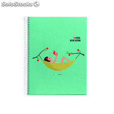 Miquel rius cuaderno 4 bandas color a4 120 hojas cuadricula do not disturb