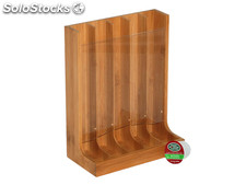 Mk Bamboo praha - 5 Divisions Coffee Pod Stand