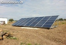 Mobil Solar Tracking systèmes 10kw complets