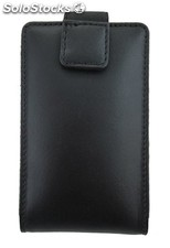Mobile Holder Black Cowhide Leather