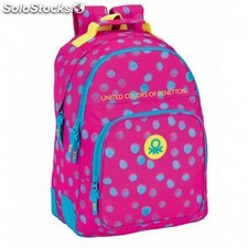 Mochila Benetton Dots Painted 32x15x42cm.
