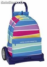 Mochila Benetton Stripes con Carro Evolution
