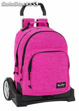 Mochila Blackfit8 Pink Doble Reforzada con Carro Evolution