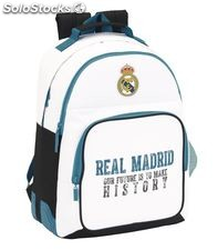 Mochila day pack doble adap. carro r. madrid 1ª equip 17/18 safta 611754773
