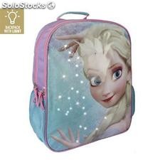 Mochila Escolar con LED Frozen 914