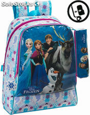 Mochila Frozen Adaptable + Mini Estuche