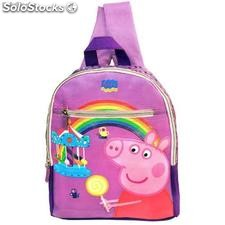 Mochila Junior Peppa Pig Arcoiris.