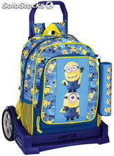 Mochila Minions con Carro Evolution + Mini Estuche