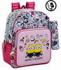 Mochila Minions Girl Adaptable + Mini Estuche