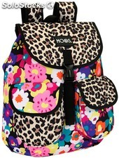 Mochila Moos Animal Flower con Solapas