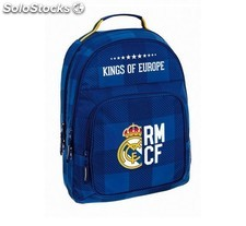 Mochila Real Madrid azul adaptable a carro