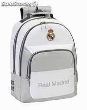 Mochila Real Madrid blanca (adaptable a carro)