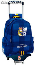 Mochila Real Madrid Blue con Carro