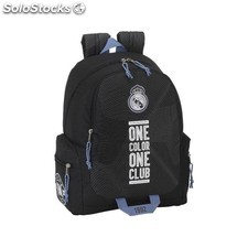 Mochila Real Madrid negra adaptable a carro