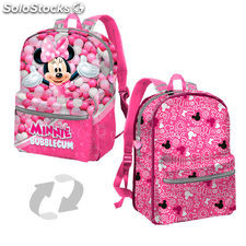 Mochila reversible Minnie Disney Bubblegum 32cm