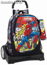 Mochila Spiderman con Carro Evolution + Mini Estuche