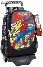 Mochila Spiderman con Carro + Mini Estuche