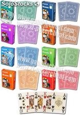 Modiano Cristallo 4 pip Jumbo Index 100% plástico cartas marcada