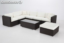 Modular rattan chocolate Puerto Rico chill out