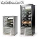 Modular refrigerated display for wine-mod. new double-sided-installed