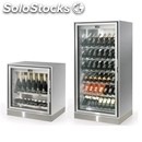 Modular refrigerated display for wine-mod. new galax mono-installed leaning on a
