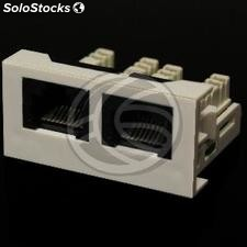 Modulo 45x22 5mm 2xRJ45 Cat.6 (MA56)