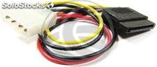 Molex Power Cable 4P-m (5.25) > 15P-h (sata) (CA14)