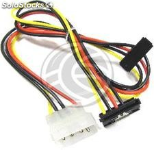 Molex Power Cable 4P-m (5.25) > 2 x 15P-h (sata) online (CA19)