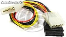 Molex Power Cable 4P-m (5.25) > 4P-h (5.25) + 15P-h (sata) (CA17)