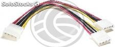 Molex Power Cable 4P-m (5.25) > 4P-h (5.25) + 4P-h (5.25) (CA11)